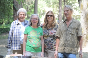 Volunteers (left to right) Jackie Wilson, Pauli Halstead, Kathy Waldron and Douglas Raglin